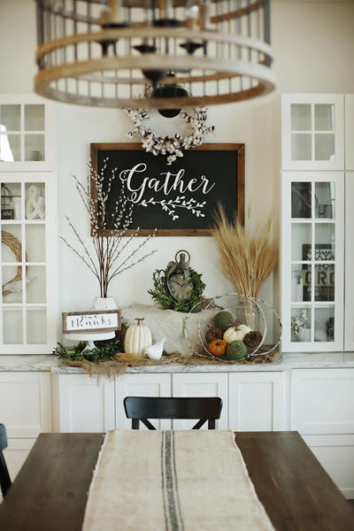 Cotton Wreath Display by Fox Hollow Cottage
