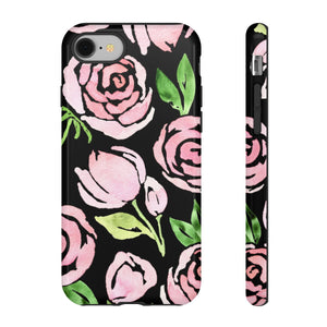 Watercolor Floral on Black TOUGH Case