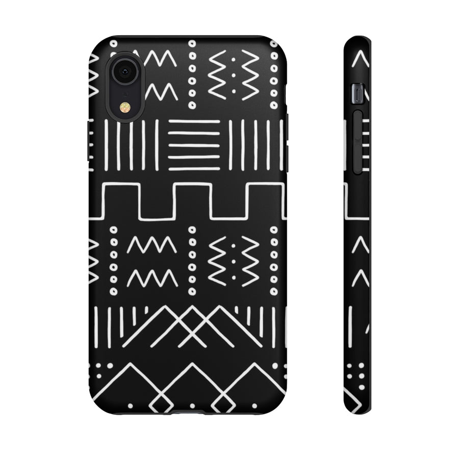 Modern Mudcloth in Black TOUGH Case
