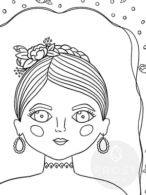 "Printable Coloring Page ""Bella"""