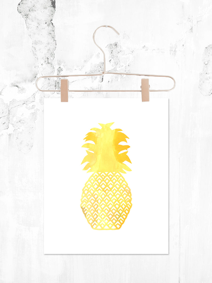 Watercolor Pineapple | Printable 8x10