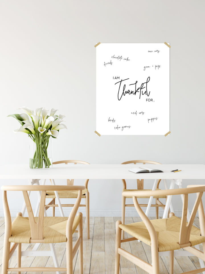 """I Am Thankful"" Giant Printable Poster"