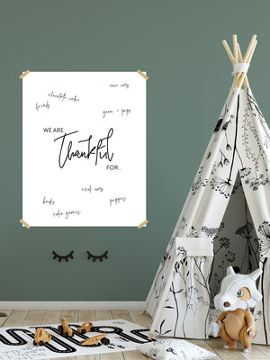 """We are Thankful"" Giant Printable Poster"