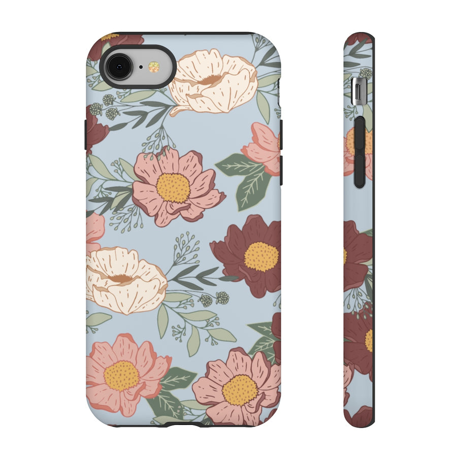 Moody Florals in Blue TOUGH Case