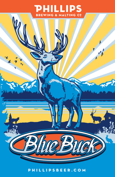 Blue Buck Mounted Poster