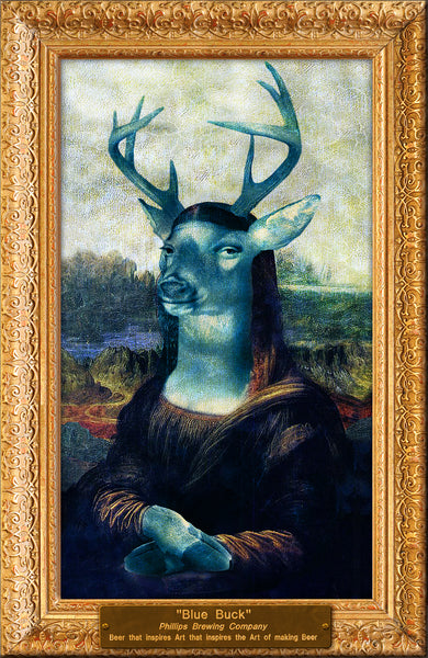 Mona Lisa Buck Mounted Poster
