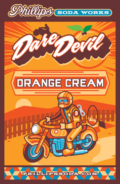 Dare Devil Orange Cream Soda Mounted Poster