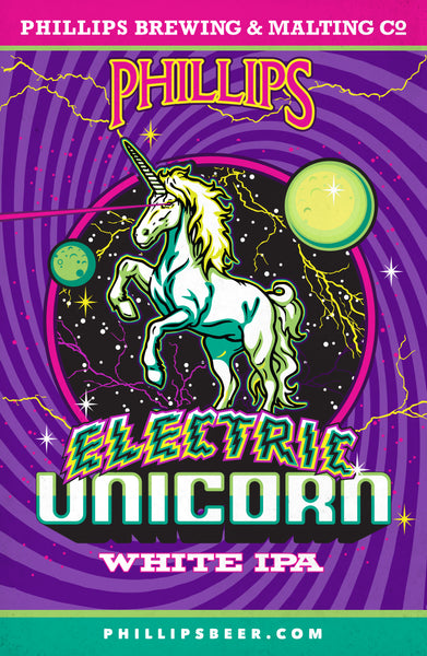 Electric Unicorn Poster