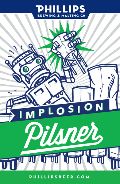 Implosion Pilsner Mounted Poster