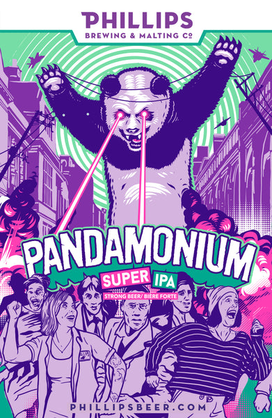 Pandamonium Mounted Poster