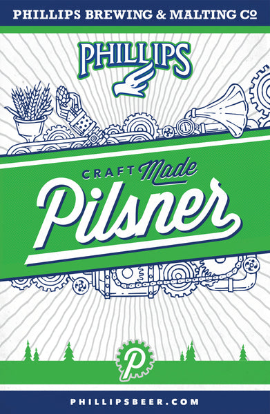 Phillips Pilsner Mounted Poster