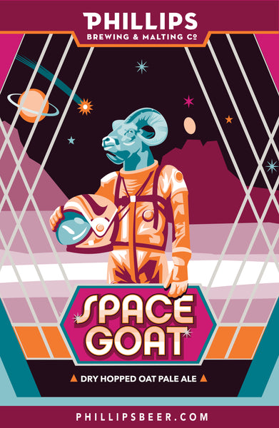 Space Goat Mounted Poster