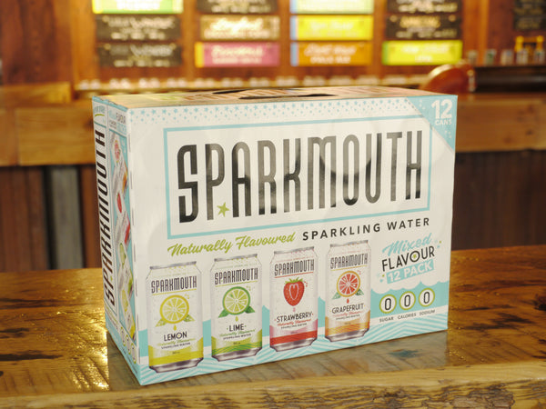 Sparkmouth Mixed Flavour Sparkling Water 12x355ml Can