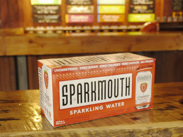 Sparkmouth Strawberry Sparkling Water 8x355ml Can