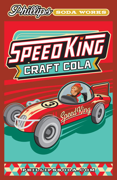 Speed King Cola Mounted Poster