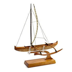 "Koa 12 inch Canoe ""Hawaiian Fishing"""