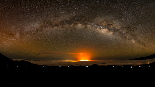 Mars Retrogade Over Puna by Don Slocum