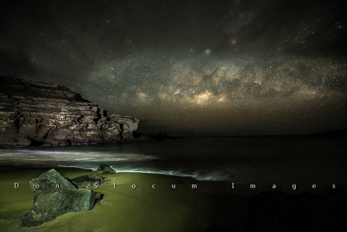 Green Sands Milky Way Rising by Don Slocum