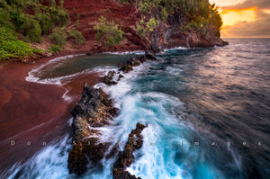 Red Sand Beach by Don Slocum