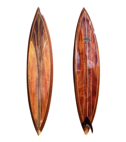 Koa Surfboard w/ Exotic Wood Accents #6 by Lon Klein