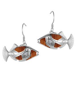 Koa Honu Humu Earrings SS