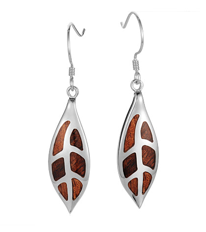 Koa Honu Maile Leaf Earrings SS