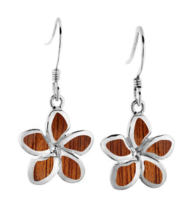 Koa Plumeria Earrings SS