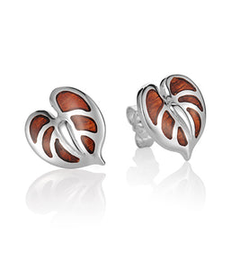 Koa Anthurium Earrings SS
