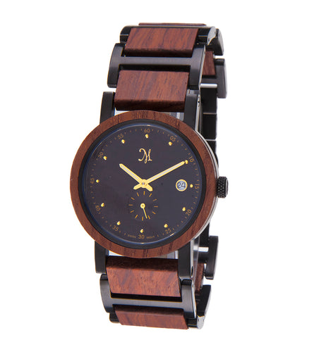 Karri wood Black with Black/Gold Face - 22631