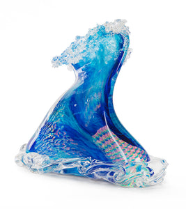 "Glass Sculpture ""Crashing Wave"" Large"