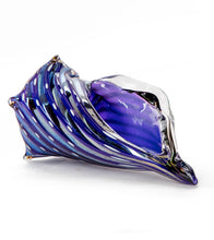 "Glass Sculpture ""Conch Shell Tropical Thunder Purple"""