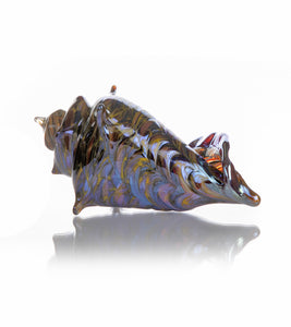 "Glass Sculpture ""Mini Conch Shell Gold"""