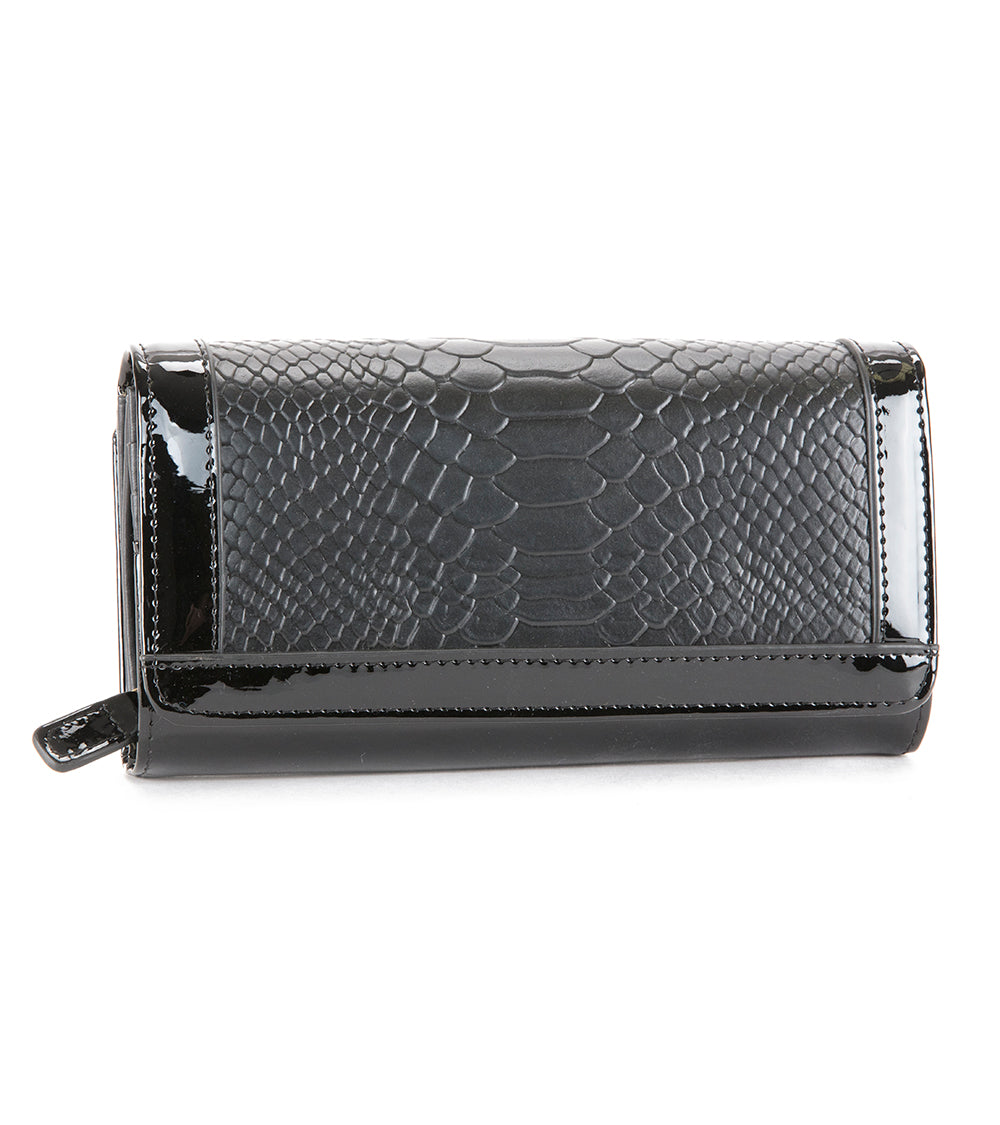 Black Python Large Wallet