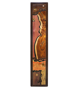 "Wood Inlay Mural ""Carob Sea"""