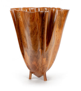 Carved Banyan Vessel #1923