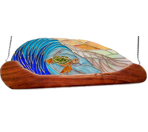 "Stained Glass with Koa ""Turtle Wave"""