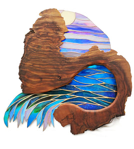 "Stained Glass with Koa ""Moon Rise"""