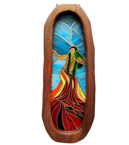 "Stained Glass with Koa ""Pele Hula"""