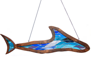 "Stained Glass with Koa ""Shark"""