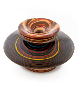 "Wood Vessel ""Galaxy 24204"""