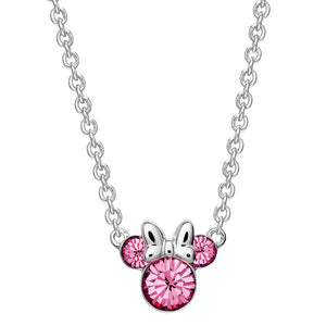 Disney's Minnie Mouse Pink Crystal Necklace