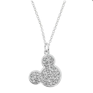 "Disney's Mickey Mouse Cubic Zirconia ""I Love Mickey"" Pendant Necklace"