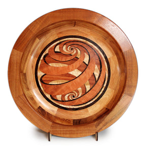 "Segmented Koa Platter ""Encompassing Love"" 20 inch"