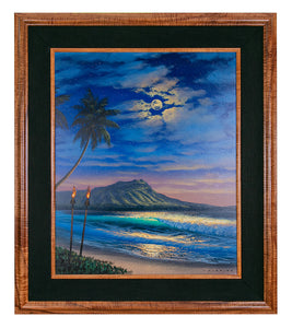 Original Painting: Evening of Peace Diamond Head by Walfrido Garcia