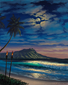 Limited Edition: Evening of Peace Diamond Head by Walfrido Garcia