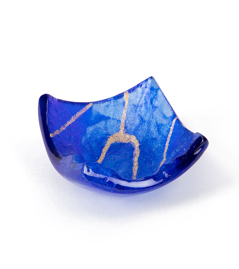 Lava Glass Cobalt Tray Small