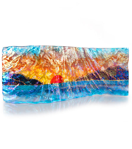 Sunset Beach Large Rectangle Tray