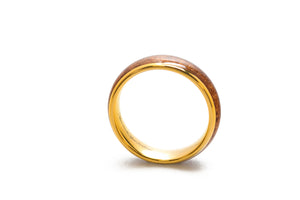 Koa Eternity Ring - Curved