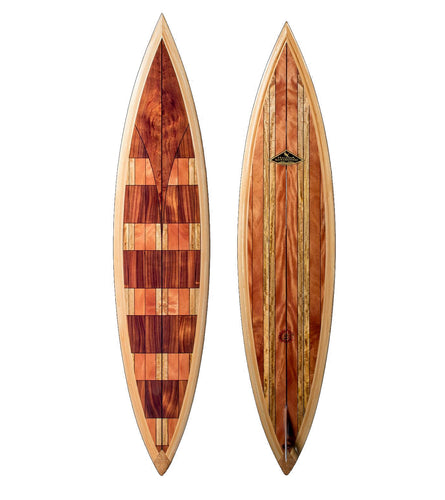 Koa Surfboard w/ Exotic Wood Accents #60 by Lon Klein