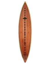 Koa Surfboard w/Exotic Wood Accents # 77